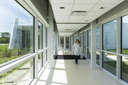 The facility has a cool roof that reflects heat from the summer sun, occupancy sensors that turn off lights when rooms are not in use and electrochromic glass windows that darken to block bright sunlight, eliminating the need for shades or blinds.