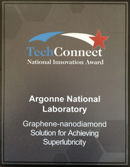 Argonne-developed technology for achieving superlubricity wins 2016 TechConnect National Innovation Award