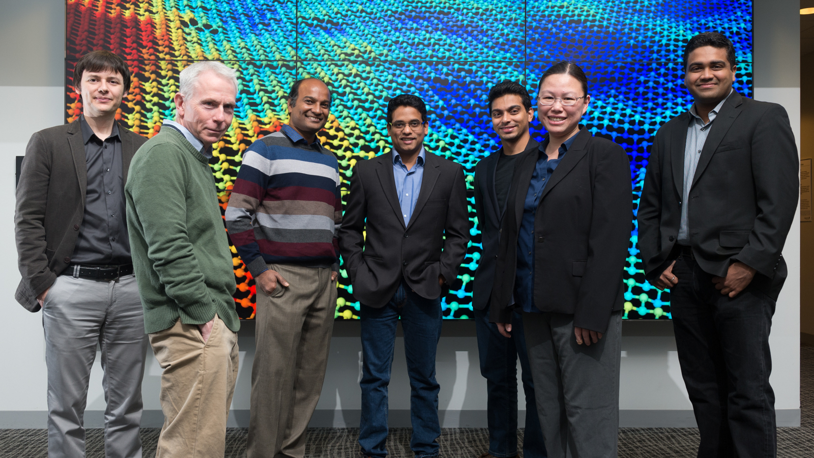 The Argonne research team that has pioneered the use of machine learning tools in 2-D material modeling.