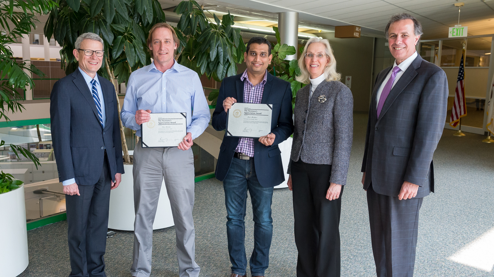 Argonne Computer Scientists Tom Brettin and Ravi Madduri also received awards for their work with the Cancer Moonshot Task Force.