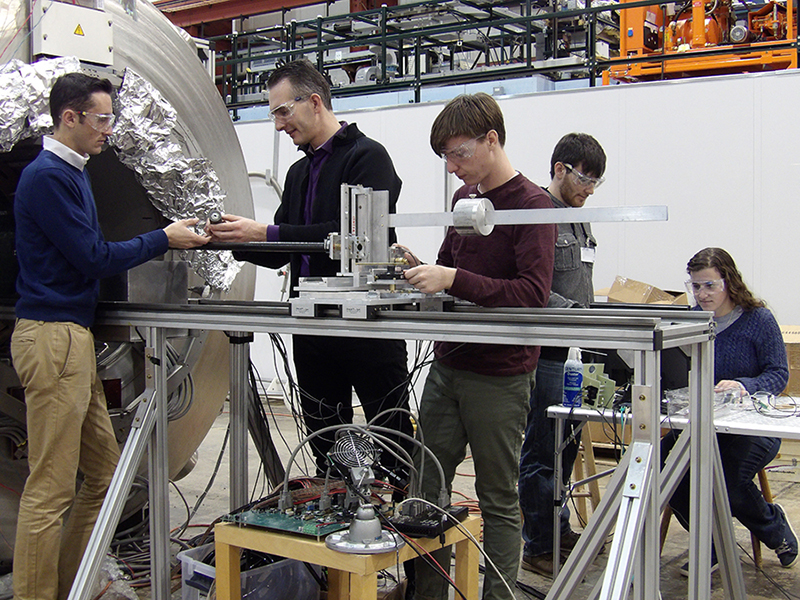 Students from Stony Brook University visited Argonne to test a prototype of a magnetic cloak.