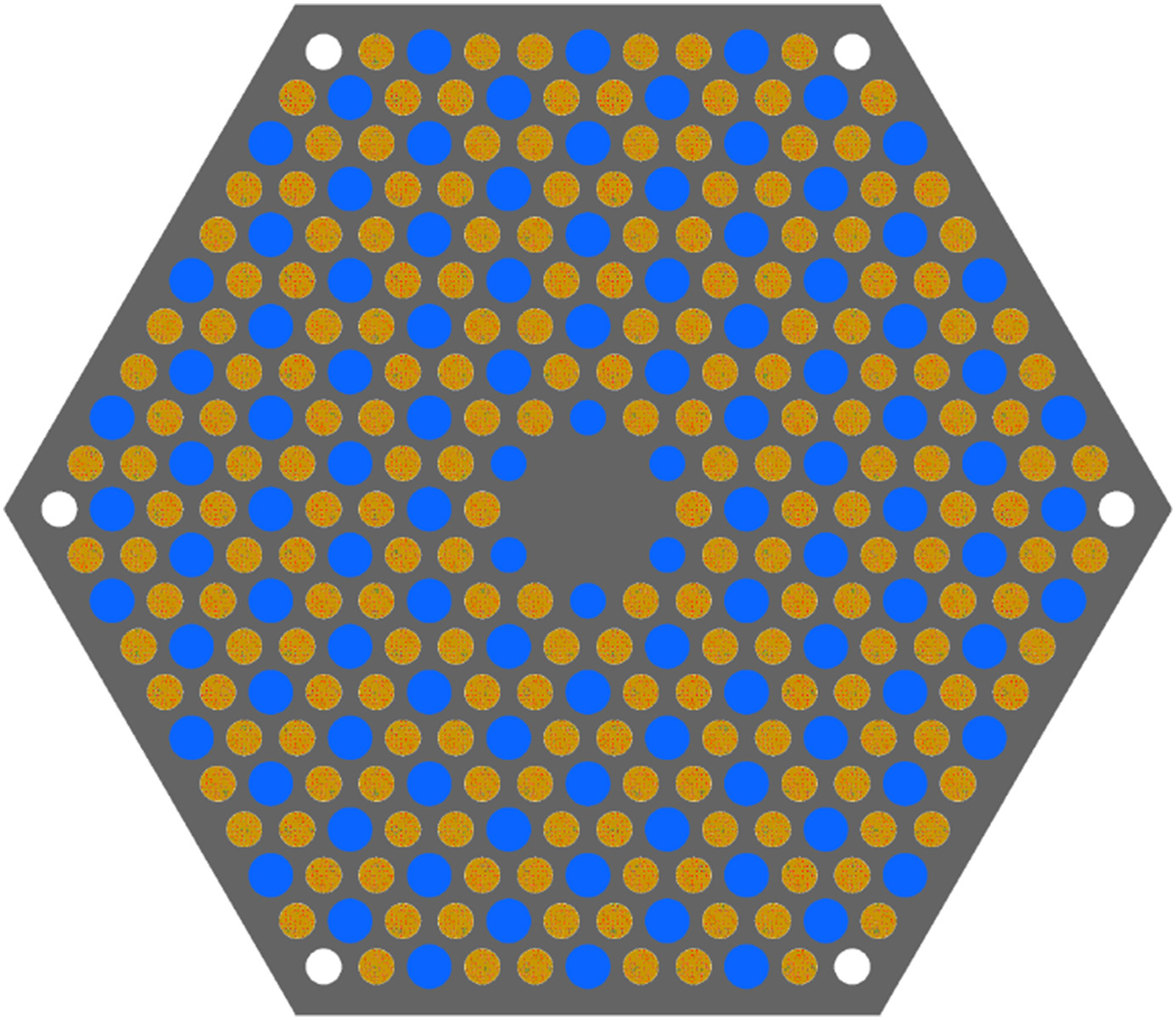 Image of a reactor prismatic assembly geometry.