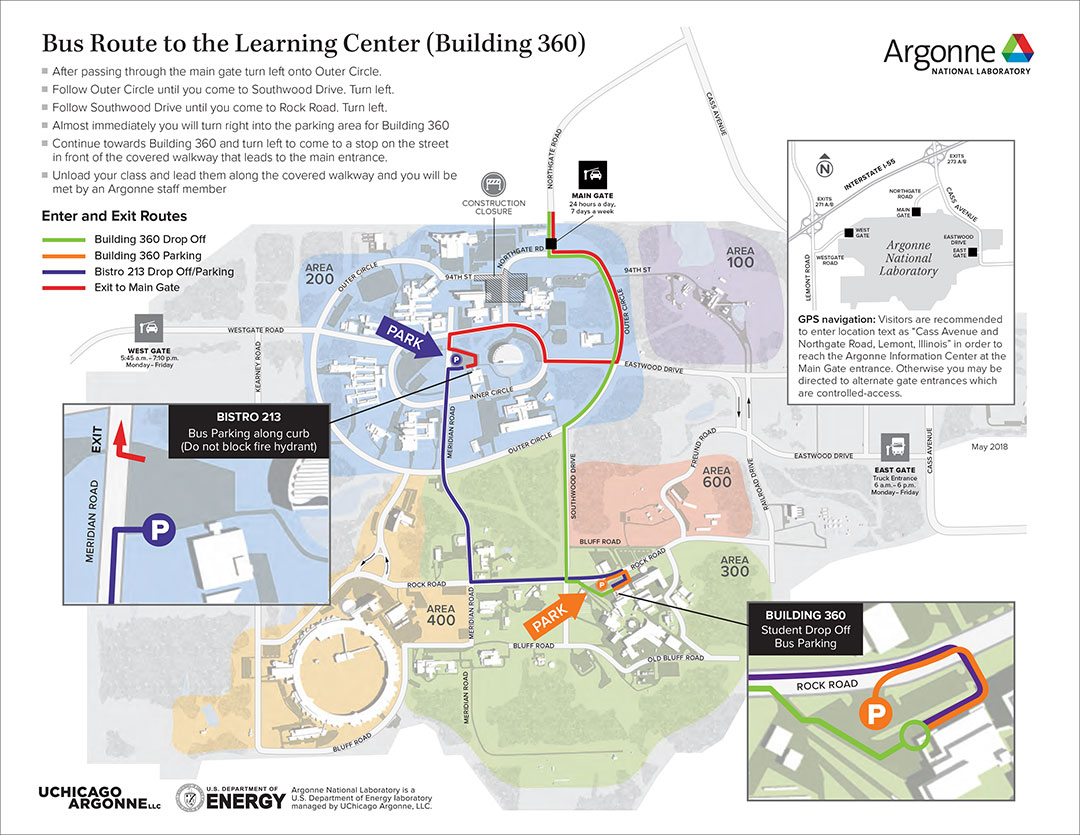 Buss Route to the Learning Center (Building 360)