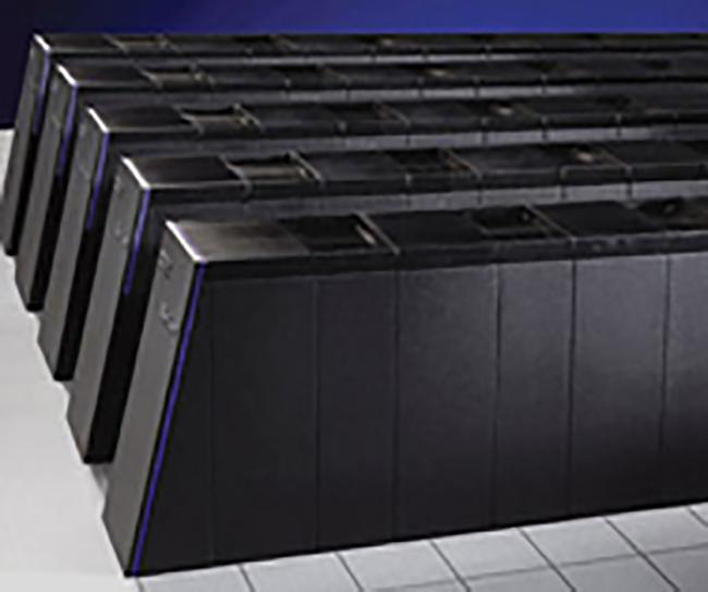 Intrepid, the machine resembles five rows of black refrigerators