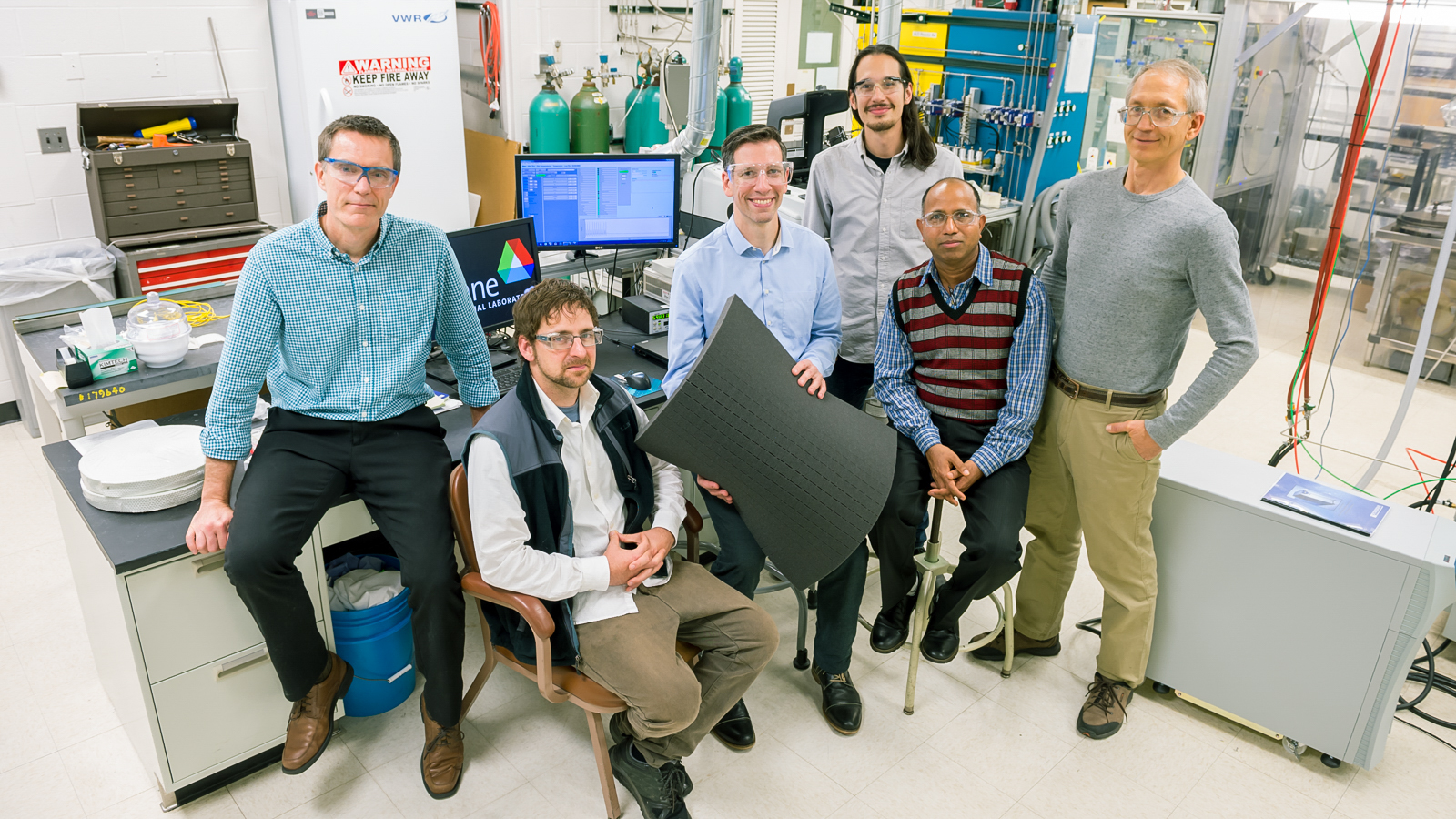 Argonne researchers who helped develop the Oleo Sponge include Jeff Elam, Ed Barry, Seth Darling, Jason Avila, Anil Mane and Joe Libera.