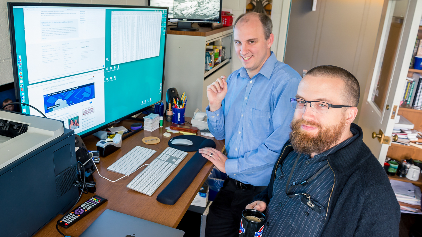 Nate Evans and Michael L. Thompson developed the MORE MTD defense system.