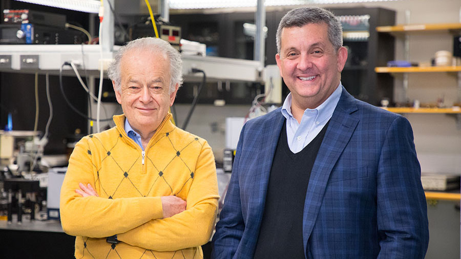 Daniel Lopez, Nanofabrication and Devices Group Leader at Argonne's Center for Nanoscale Materials and Federico Capasso, Harvard's Robert L. Wallace Professor of Applied Physics