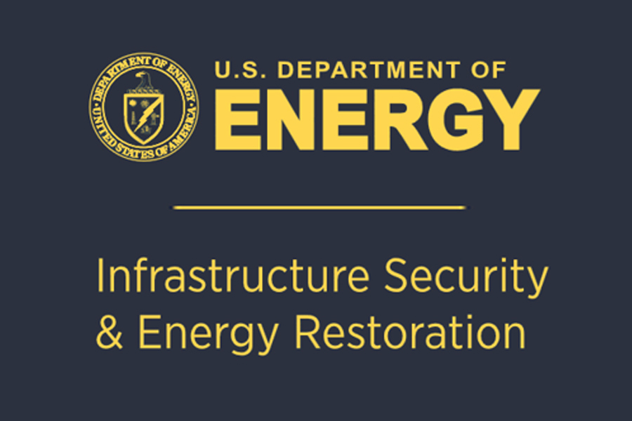 Office of Electricity Delivery and Energy Reliability's Infrastructure Security and Energy Restoration Division of the U.S. Department of Energy logo