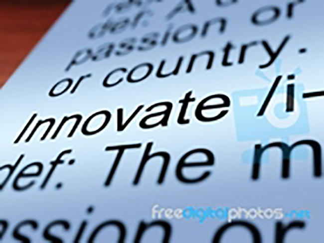 Photo of the word innovate