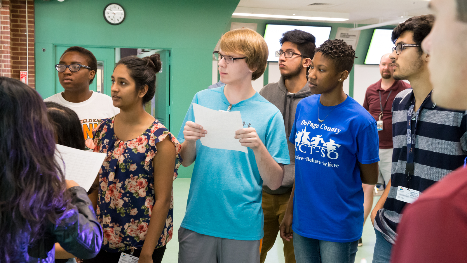 These students learned ways to interpret and visualize data at Argonne over the summer. (Image by Argonne National Laboratory.)