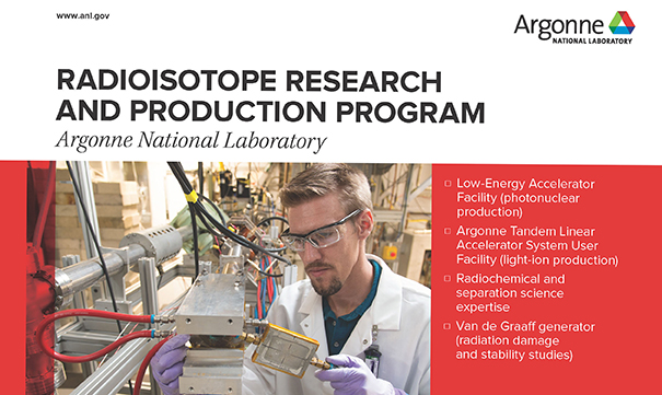 Partial image of front side of radioisotope program fact sheet