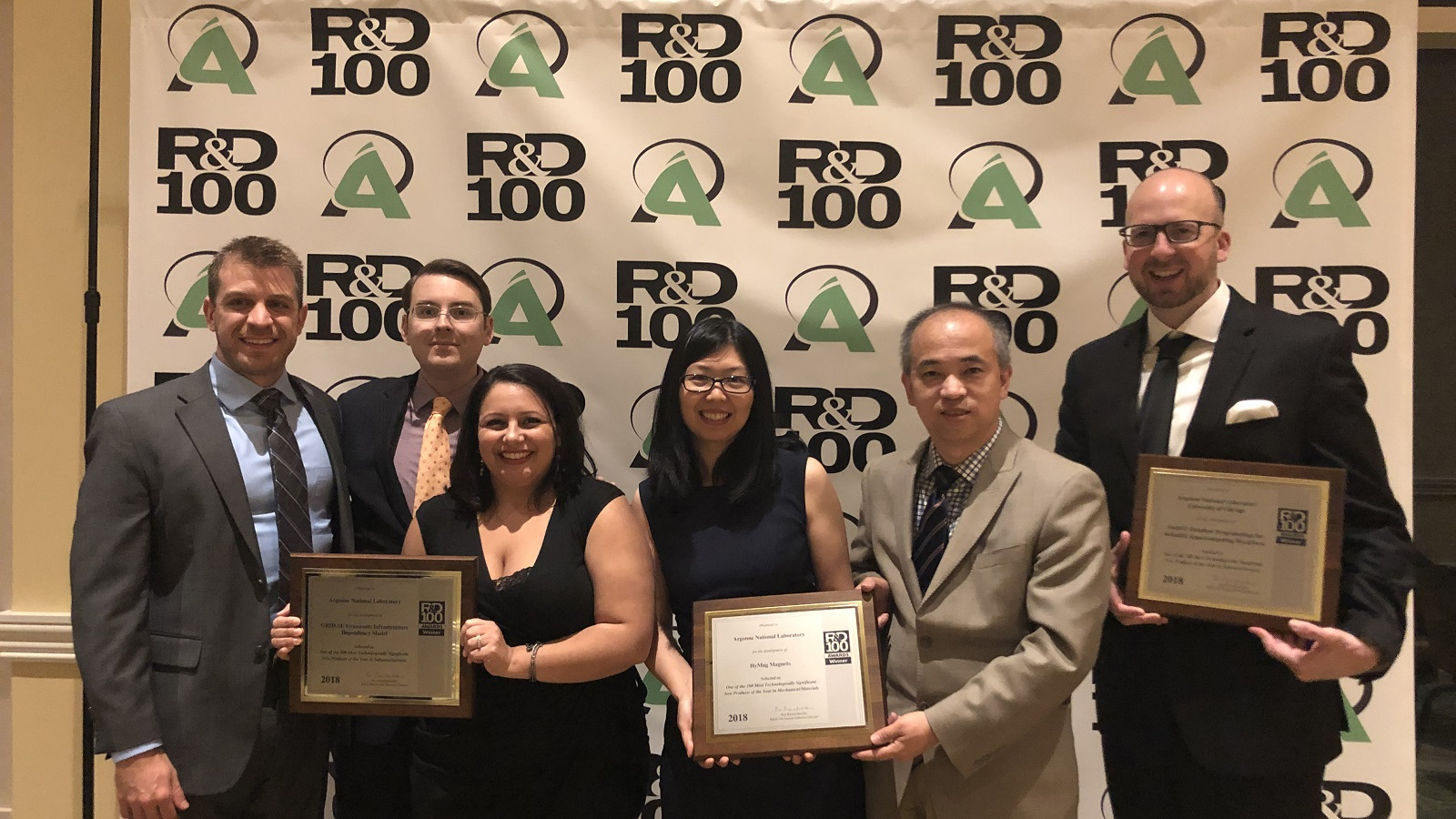 Six 2018 R&D 100 award winners