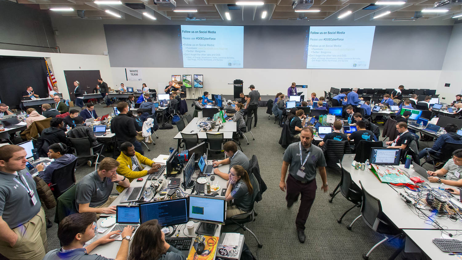 The University of Central Florida won the U.S. Department of Energy's fourth cyber defense competition on December 1. (Image by Argonne National Laboratory.)