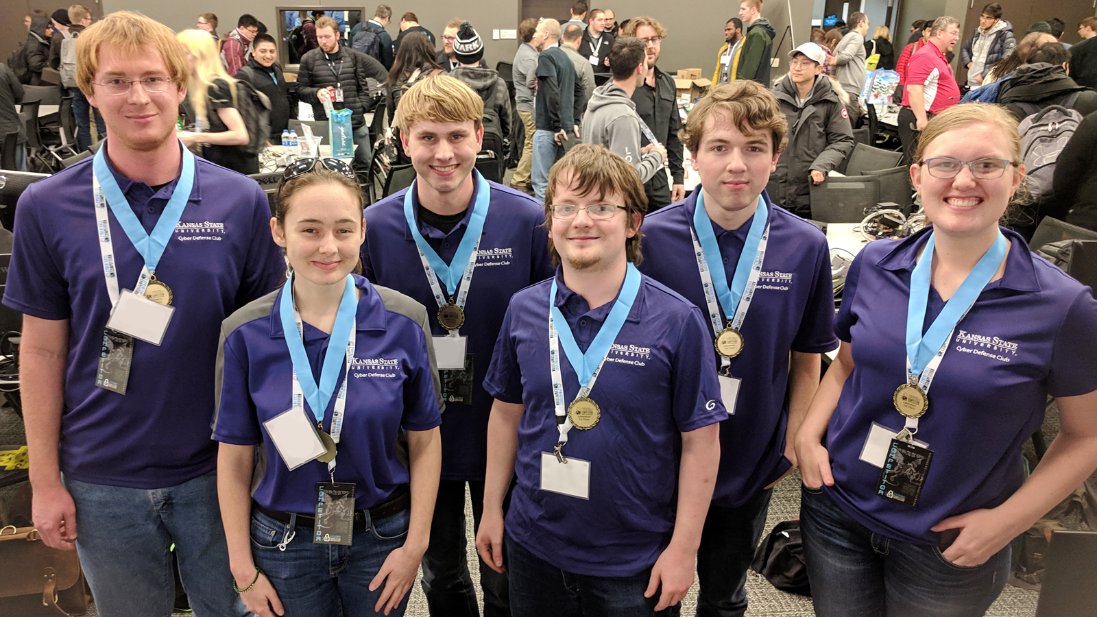 Kansas State University was the regional winner of the 18 teams competing at Argonne. (Image by Argonne National Laboratory.)