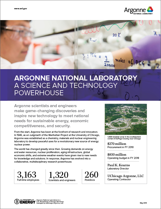 Argonne at a Glance