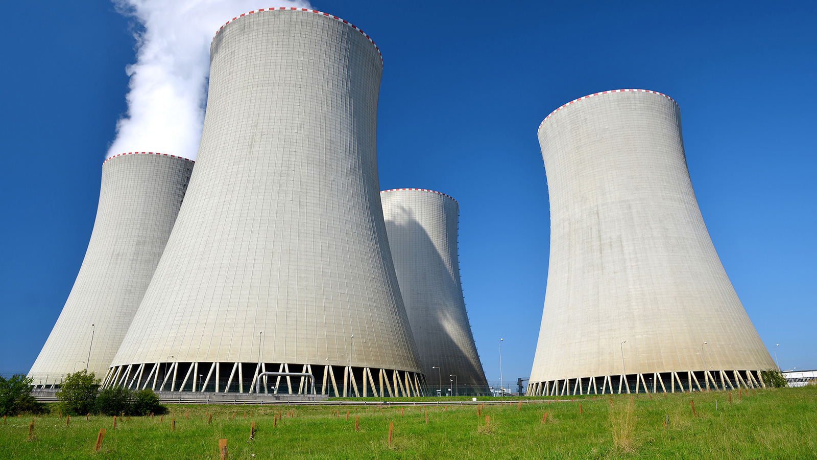Four cooling towers