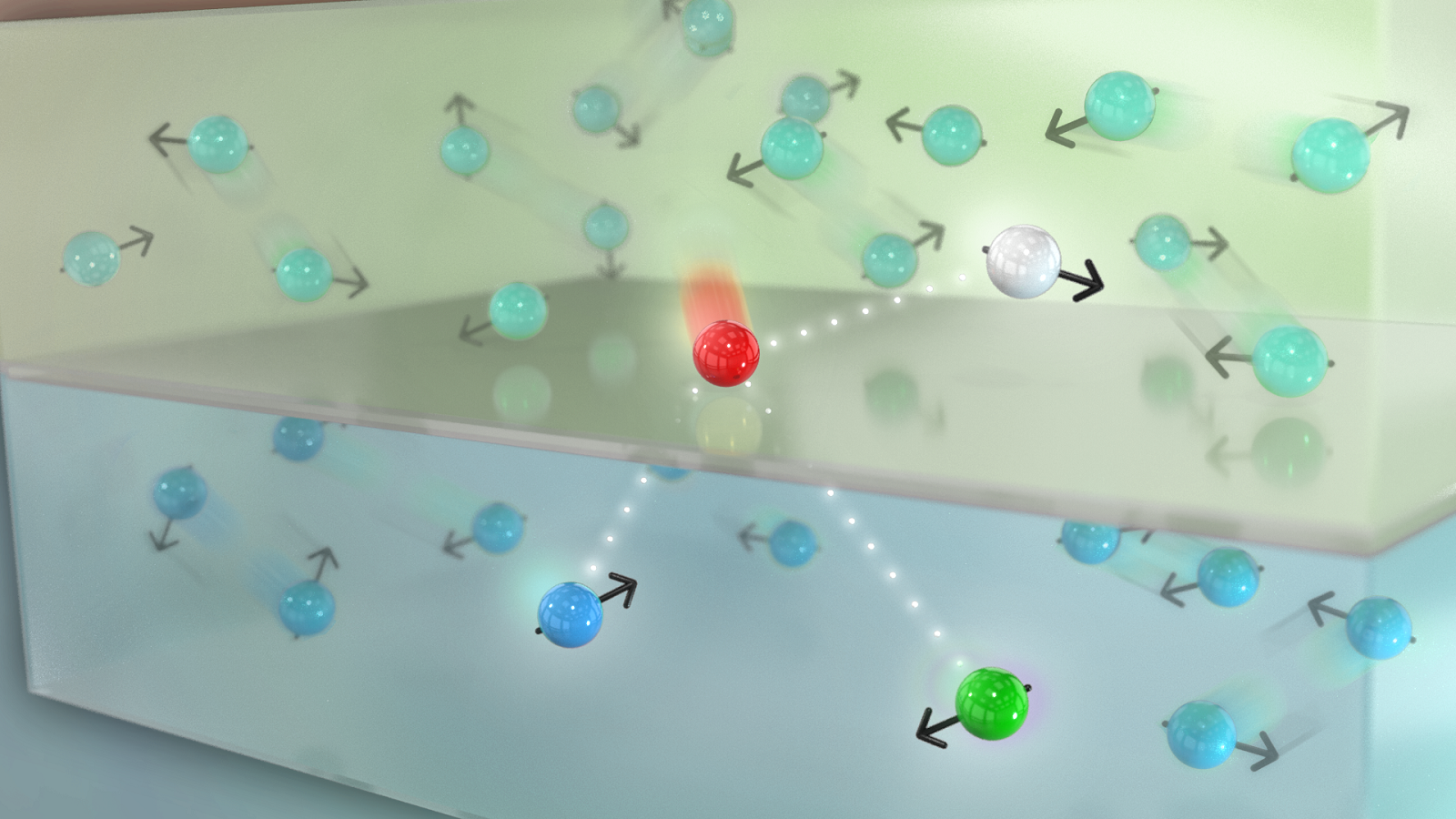 An electron incident on a Weyl semimetal from a normal metal is transmitted into specific states in the Weyl semimetal along with a reflection that conserves momentum, energy, and spin. A net spin current with no net flow of electrons can give rise to a charge current in the Weyl semimetal.