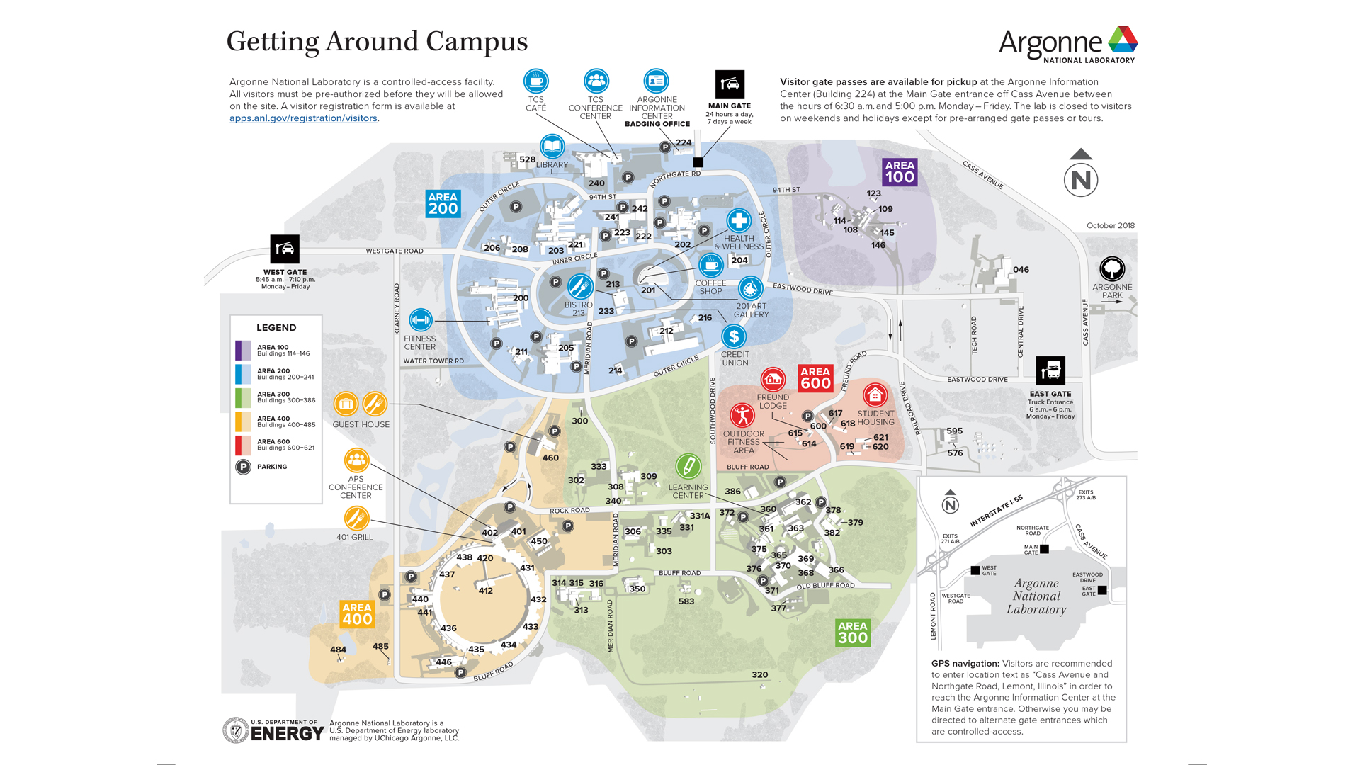 Map of Argonne National Laboratory campus