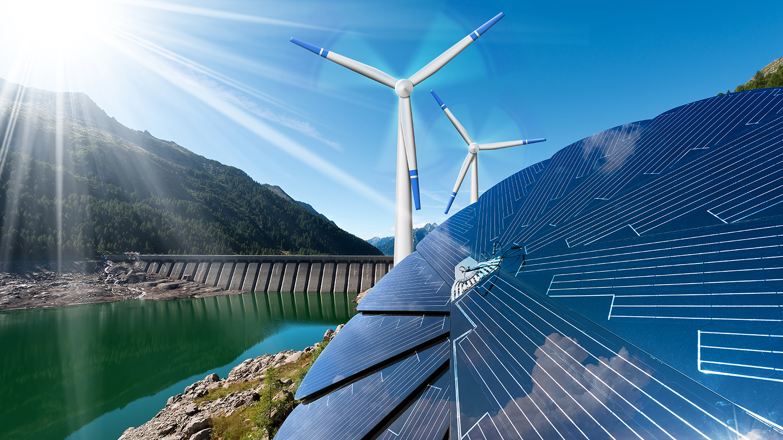 Argonne researchers are finding ways to prevent cyberattacks on distributed energy resources — e.g., solar and wind power — before they occur. (Image by Shutterstock / Alberto Masnovo.)