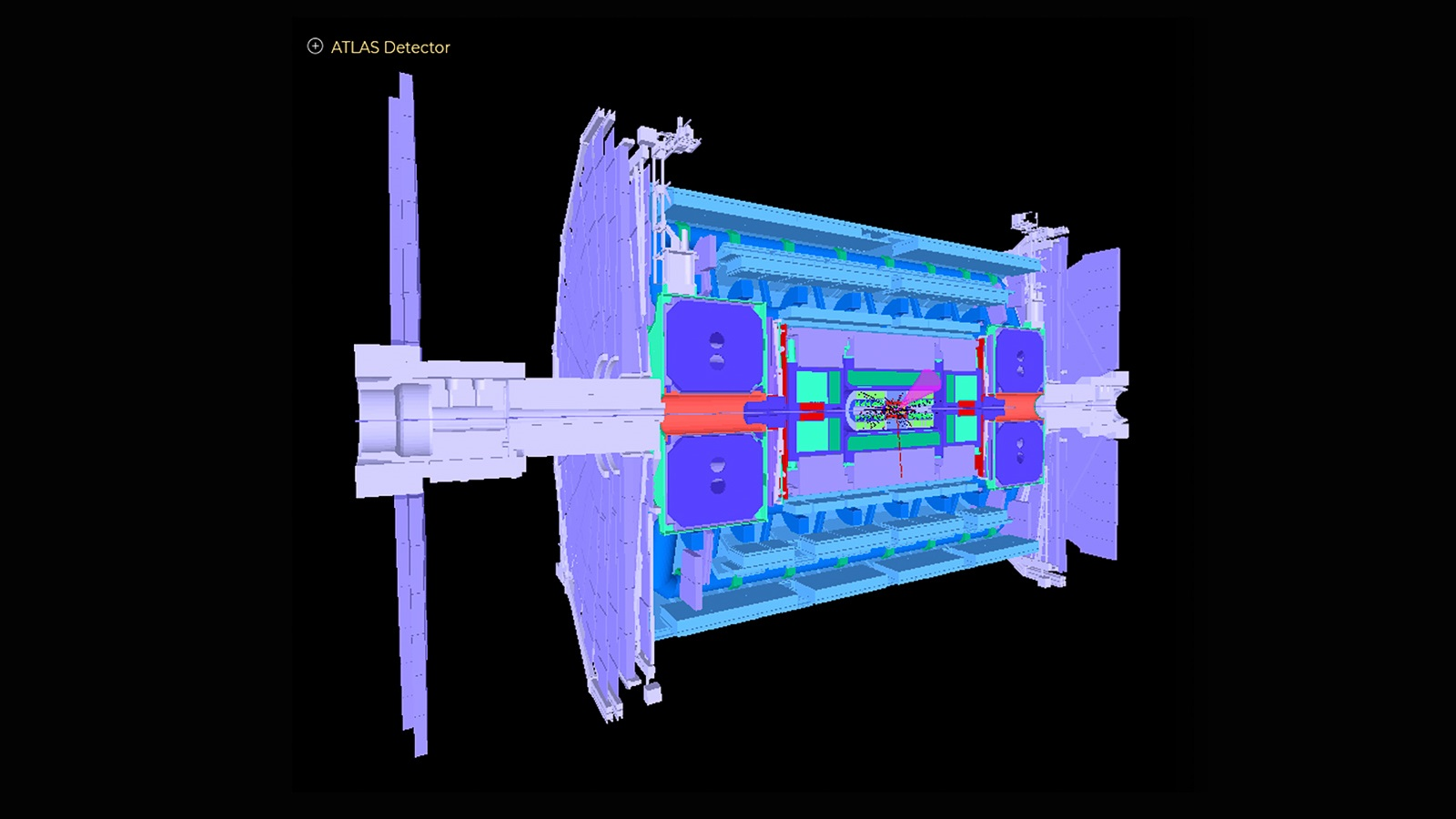 Schematic of ATLAS detector in the Large Hadron Collider. (Image by ATLAS Collaboration.)