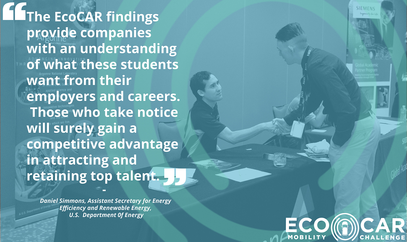 The EcoCAR findings provide companies with an understanding of what these students want from their employers and careers.