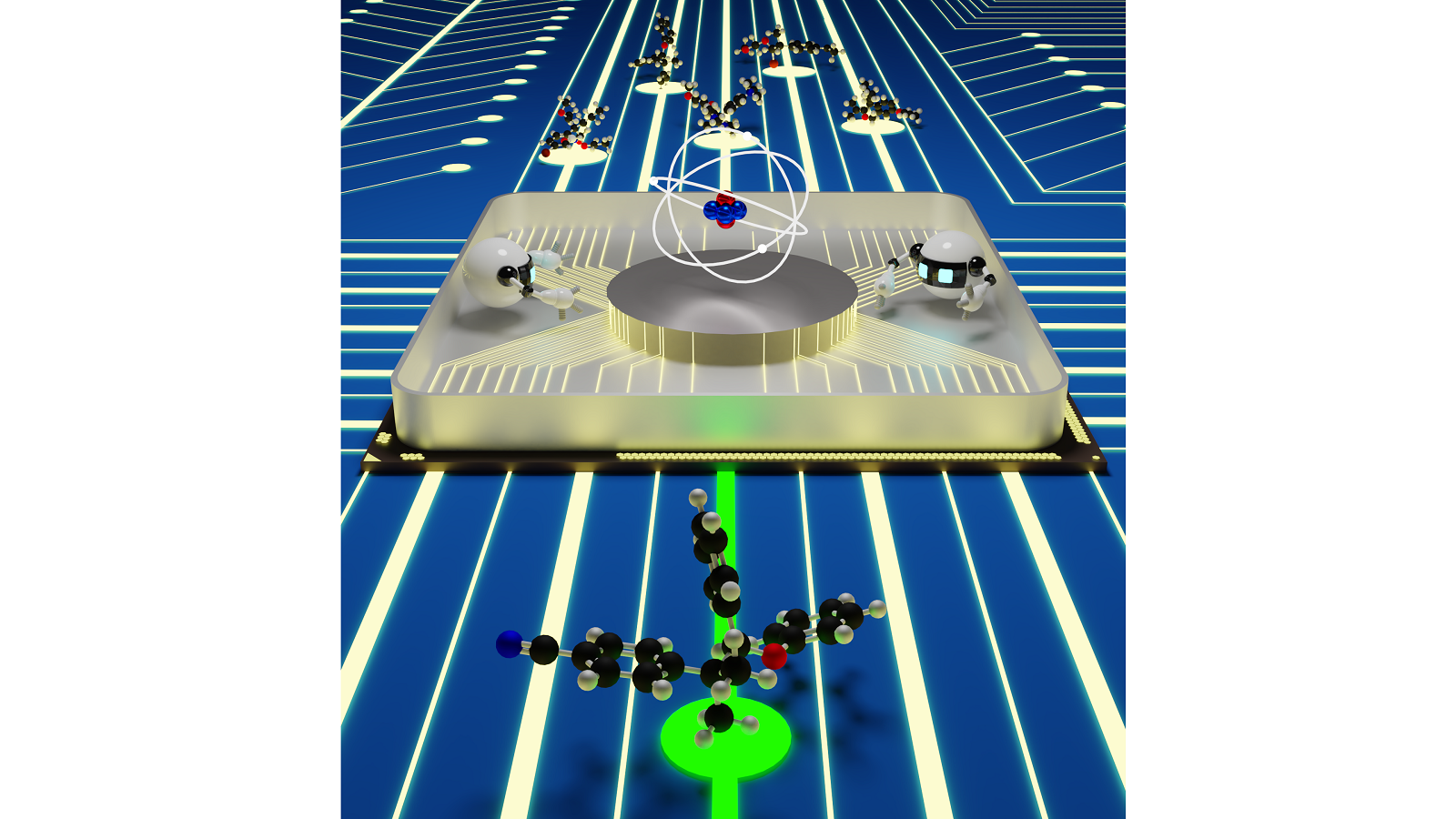 Seamless interactions between quantum mechanical simulations and artificial intelligence could provide an efficient materials discovery platform.