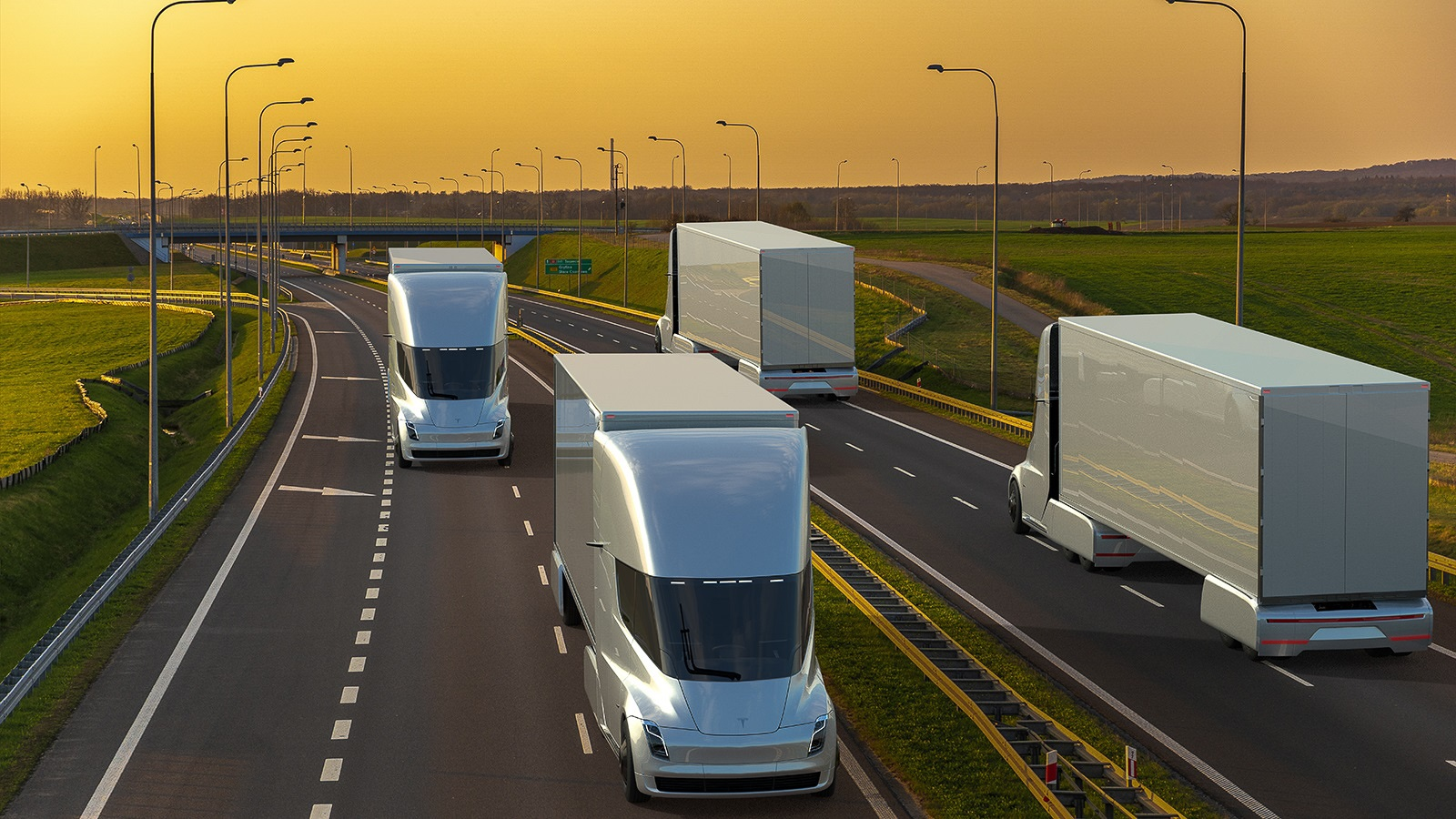 Passenger vehicles will not be the only ones to evolve on U.S. roads: Heavy-duty trucks will also need to go electric, requiring new battery and charging technology. (Image by Mike Mareen/Shutterstock.)