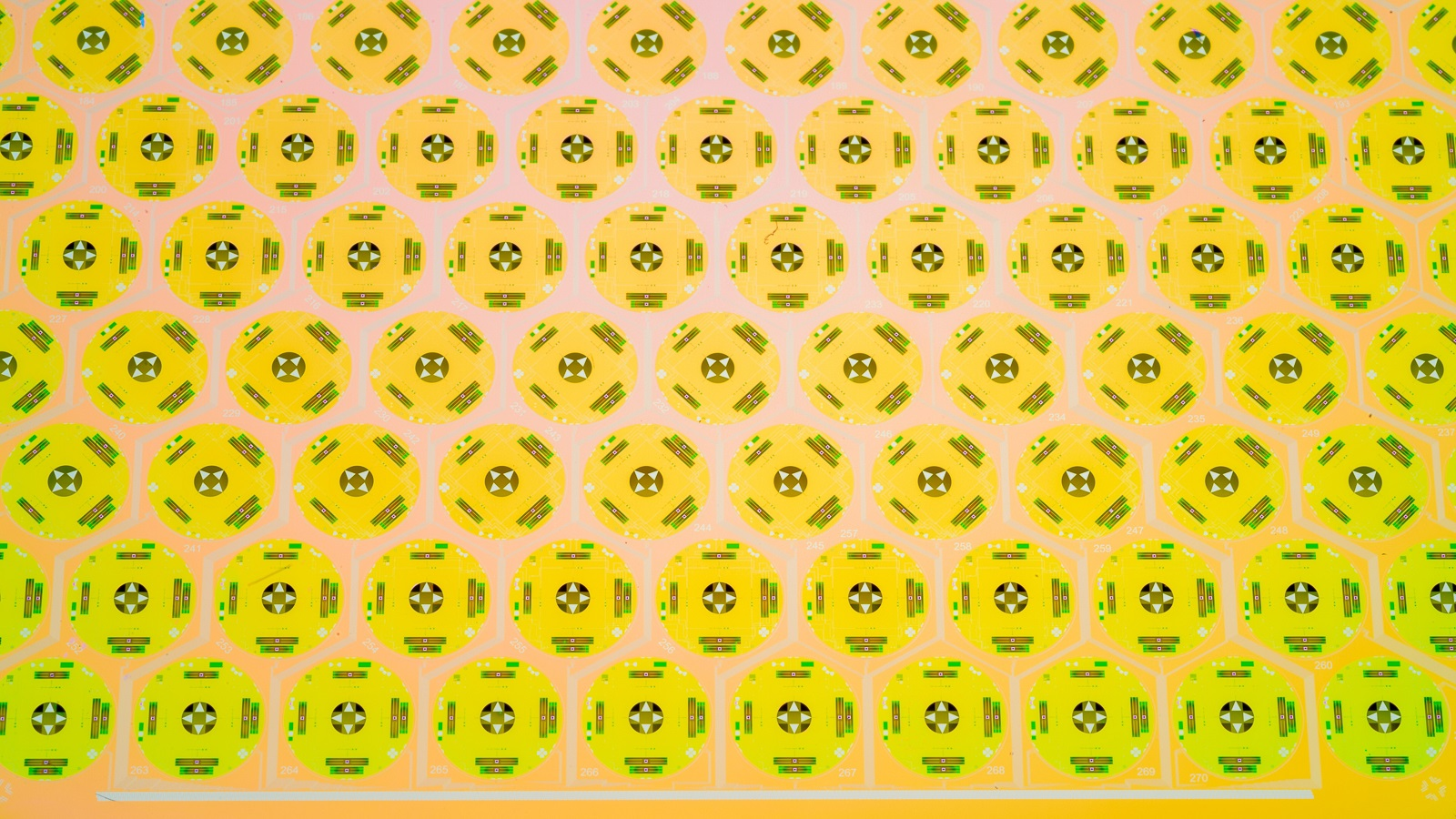 Yellow and green pattern. (Image by Argonne National Laboratory.)