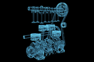Schematic drawing of internal combustion engine