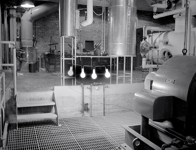 Argonne's Experimental Breeder Reactor 1 lights a simple string of four 100-watt light bulbs on Dec. 20, 1951.