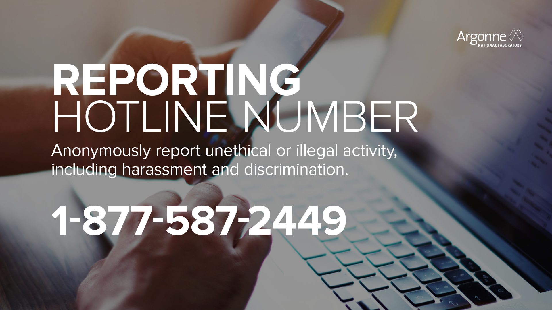 Reporting Unethical or Illegal Activity | Argonne National