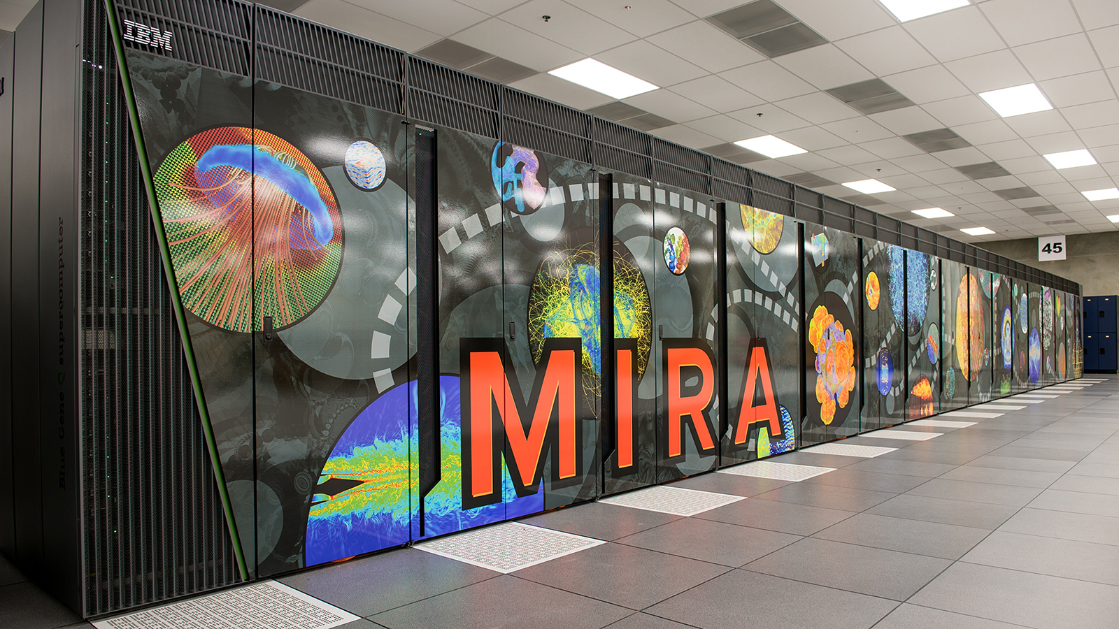 Argonne's Mira supercomputer. (Image by Argonne National Laboratory.)