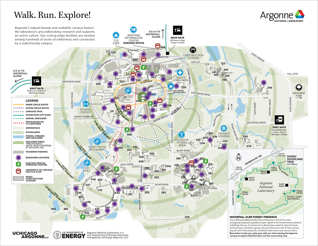 Walk. Run. Explore! Campus Map