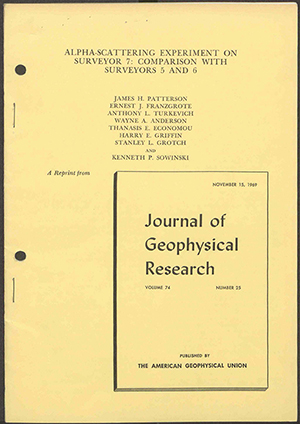 "Cover of the reprint article ""Alpha-Scattering Experiment"""