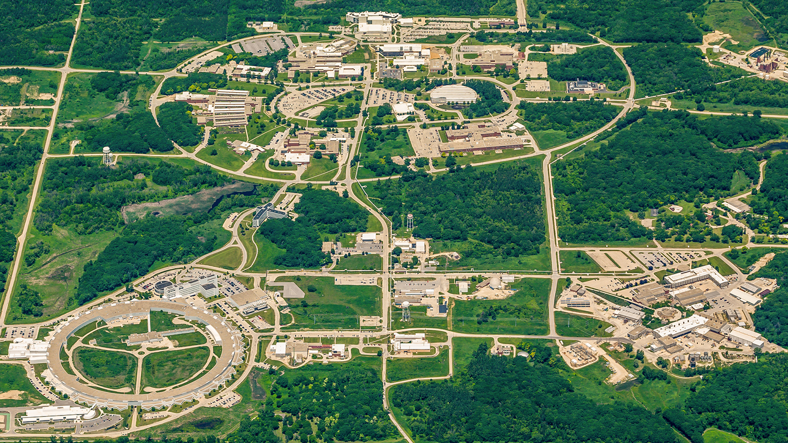 Aerial view of the Argonne National Laboratory campus