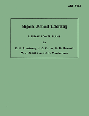 "cover of the report ""A Lunar Power Plant"""