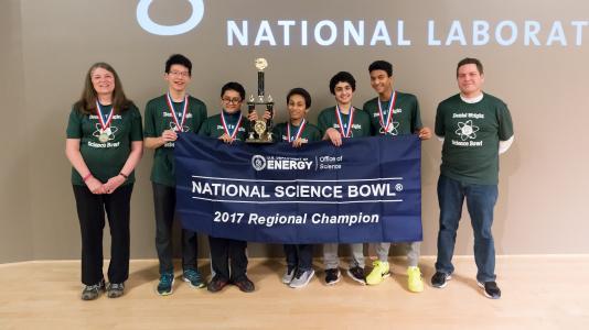 Daniel Wright Jr. High School, winner of the 2017 DOE Regional Middle School Science Bowl