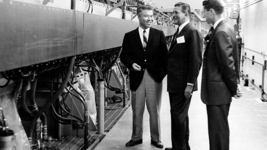 Illinois governor Otto Kerner visits the Zero Gradient Synchrotron