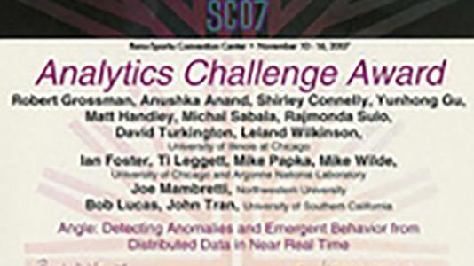 Analytics Challenge Award from SC07