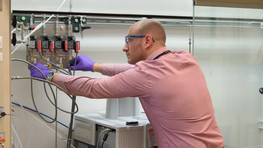 Argonne chemist Max Delferro has developed an unusually active form of vanadium for hydrogenation reactions