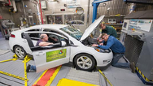 Argonne's innovative vehicle testing facility is leading the charge in hybrid and electric cars.