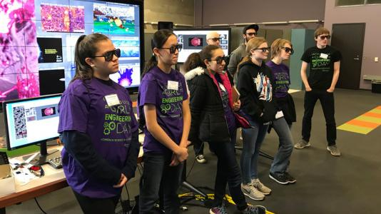 Students learn about how computer scientists visualize data collected from researchers.