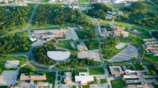 Aerial photo of Argonne National Laboratory