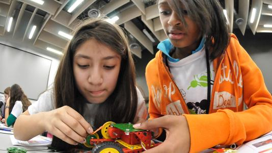 Area middle-school girls learned about career opportunities in science and engineering last year during Argonne's annual Introduce a Girl to Engineering Day.