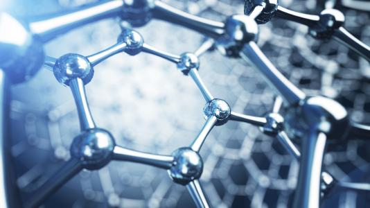 Argonne scientists have developed a way to extend the lifetime of photocathodes by wrapping them up in a protective coat of atomically thin graphene (shown here). (Image by Shutterstock / Egorov Artem.)