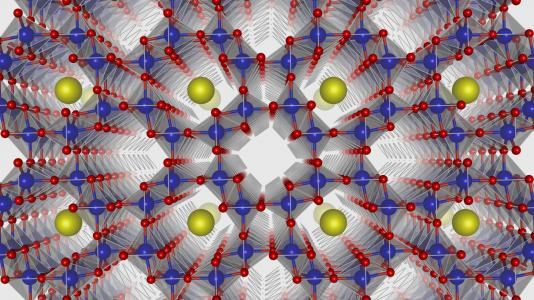 Argonne scientists are combining existing theories to form a more general theory of electrochemistry that predicts unexplained behavior. To do this, the researchers first studied alpha manganese oxide (shown here). Testing of this material and others is helping to predict material behavior as well as inform which changes could improve its performance.