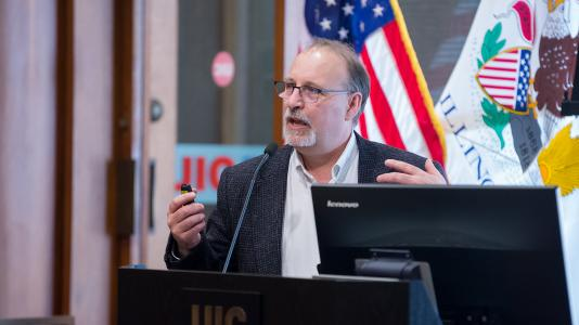 The Chicago Chapter of CHIBPSA introduced a scholarship for undergraduate and graduate students named after Ralph Muehleisen, a building scientist and engineer at Argonne, to honor him for his contributions to the field of building energy modeling and his professional involvement in CHIBPSA, IBPSA-USA, and ASHRAE. (Image by Argonne National Laboratory.)