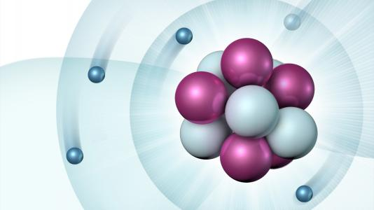 Schematic of a boron atom (Image by Ellen Weiss/Argonne National Laboratory.)