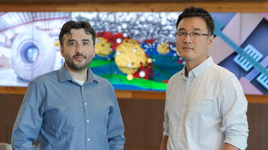 From left to right: Ahmet Uysal and Kibaek Kim, winners of 2019 Early Career Research Program awards from the U.S. Department of Energy's Office of Science. (Image by Wes Agresta / Argonne National Laboratory.)