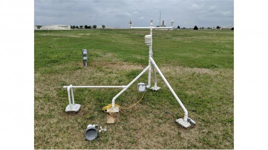 3D-printed weather station initial installation in the field. (Image by Argonne National Laboratory.)
